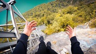 CLIMBING EUROPES HIGHEST ELEVATOR - EXTREME FREECLIMB