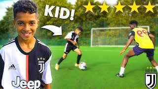 I Challenged a KID Footballer To a PRO Football Competition (11 YEAR OLD RONALDO)