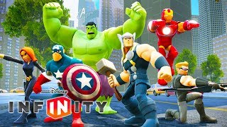 THE AVENGERS Cartoon Games for Kids - Superheroes for Children - Disney Infinity 2.0