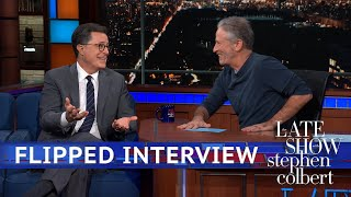 Jon Stewart's Flipped Interview With Stephen Colbert