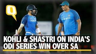 Virat Kohli and Ravi Shastri on India's ODI Series Win Over South Africa   The Quint