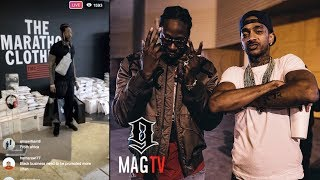 2 Chainz Overwhelmed After Shopping At Nipsey Hussle's Marathon Clothing Store!