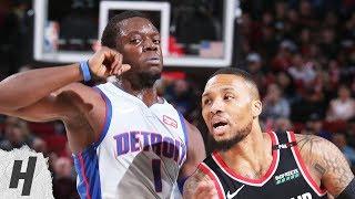 Detroit Pistons vs Portland Trail Blazers - Full Highlights | March 23, 2019 | 2018-19 NBA Season
