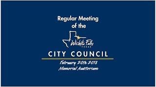 City Council meeting 2-20-2018