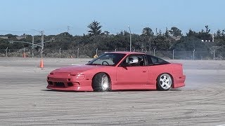 PINK S13 GOES DRIFTING!!