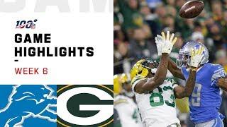 Lions vs. Packers Week 6 Highlights   NFL 2019