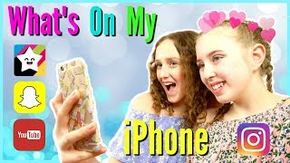 WHAT'S ON MY IPHONE 2017? - Millie and Chloe
