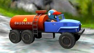 MINI RACING ADVENTURES: Creepy Cave - Racing on TANKER TRUCK - Car racing game for kids