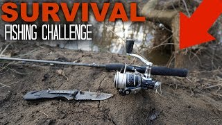 Survival Fishing Challenge!! (No Lures/Bait) *Winter Edition*