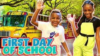 Yaya and Dj's First Day of School