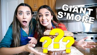 TOO BIG TO EAT? Trying The GIANT S'MORE CHALLENGE - Merrell Twins