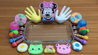 Special Series Mickey Mouse & Minnie Slime | Mixing Floam Into Clear Slime And Store Bought Slime