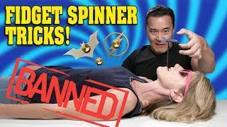 DANGEROUS FIDGET SPINNER TRICKS!!! Don't Try This at Home! 40 SPINNER GIVEAWAY!