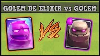 GOLEM DE ELIXIR vs GOLEM   CLASH ROYALE   1vs 1 Nueva carta Retos