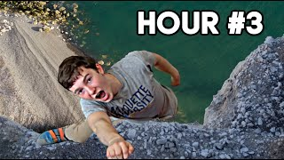 Last to Fall Off Rock Wall Wins | That's Amazing