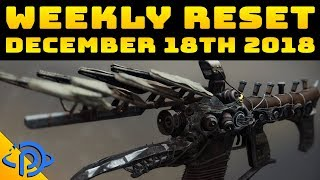 Weekly Reset Guide - December 18th, 2018