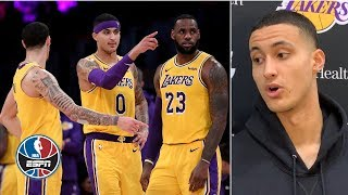 Kyle Kuzma lays out Lakers' 'death lineup', talks life without LeBron | NBA Sound