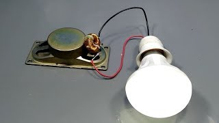 free energy generator with light bulb simple at home 2019