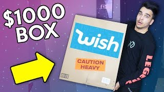 Unboxing 100% Random WISH PRODUCTS! HUGE 1000$ BOX OPENING!