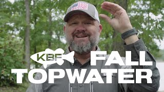 Fall Topwater Fishing | Subscriber Question