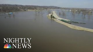 Historic Flooding Leaves At Least Three Dead, Forces Hundreds To Evacuate | NBC Nightly News