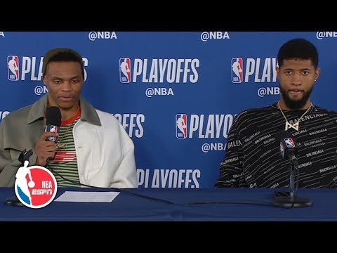 Russell Westbrook dismisses questions after Game 4 loss   2019 NBA Playoffs