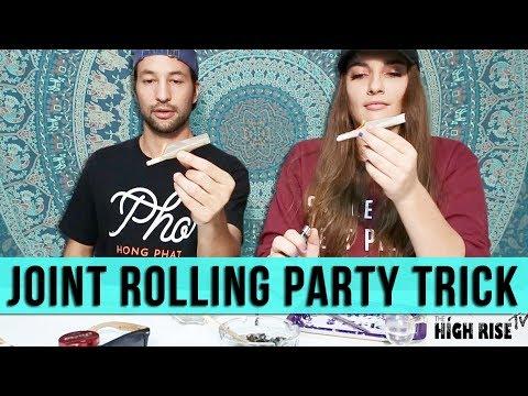Cool Joint Rolling Trick/ Smoke Less Paper!! (Madizzle420 & Derek)