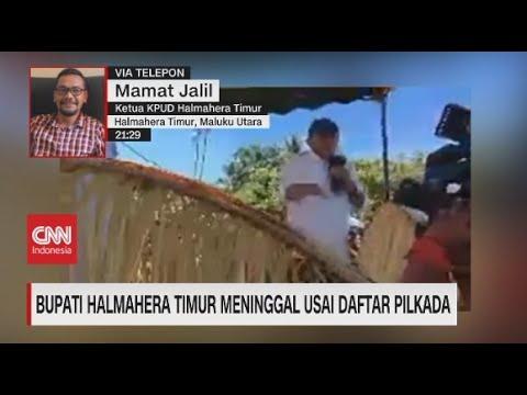 Bupati Halmahera Timur Meninggal Usai daftar Pilkada
