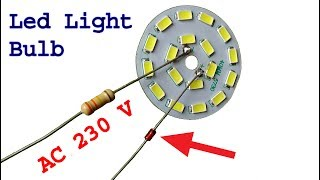 Make super easy 230 v Led light bulb, diy led light bulb idea