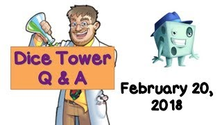 Live Q & A with Tom Vasel - February 20, 2018
