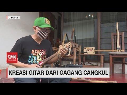 Kreasi Gitar Dari Gagang Cangkul