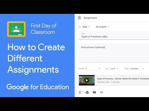 How to Create Different Assignments in Classroom