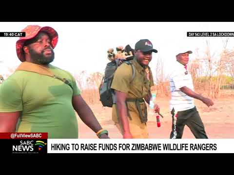 Rangers hike to raise funds for Zimbabwe wildlife workers
