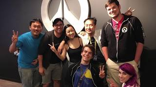 Charlet takes you to meet and thank the Overwatch team!