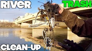 DISGUSTING!!! CLEANING UP MY FAVORITE RIVER - MAGNET FISHING