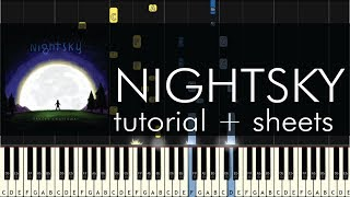 Tracey Chattaway - Nightsky - Piano Tutorial - Synthesia