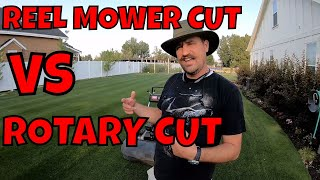 Rotary Mower vs REEL MOWER. Cut Quality // Connor Ward