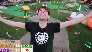 HALLOWEEN MINI GOLF: GOT ONCE IN A LIFETIME HOLE IN ONE!