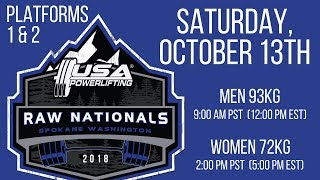 Saturday (Platforms 1&2) - 2018 USA Powerlifting Raw Nationals
