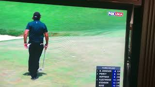 Phil Michelson Hits a Moving ball in frustration at the 2018 US Open