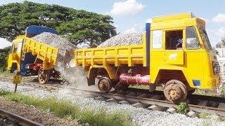 TRACK BALLASTING : Indian Railways STYLE