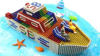 DIY How To Make Beautiful Yacht Of Surprise Balls (SB) With Magnetic Balls 💖 Satisfaction 100%