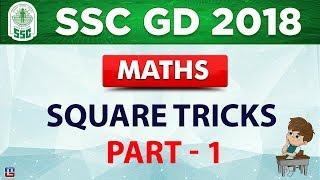 Square Tricks   Part 1   SSC GD 2018   Maths   Live at 2 PM