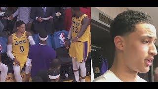 Kyle Kuzma Postgame Reaction to Argument w/ LeBron James ″Everyone Gets Along!″