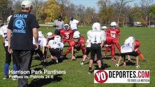 Harrison Park Panthers Pewees vs Patriots en Humboldt Park