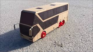 How to Make RC Bus - Cardboard Toy DIY
