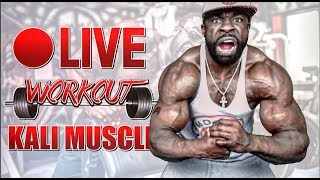 HOME WORKOUT (🔴 LIVE) | CHEST & SHOULDERS | KALI MUSCLE