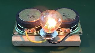 Awesome free energy using speaker magnet new technology 100%