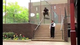 INSTABLAST! - Skater ″Throws Away″ Scooter!! Fs Flip Right Past Security!! INSANE Ladder Drop-In!!