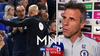 ″Sarri shouldn't have been sent off″   Zola on Burnley draw, Sarri sent to stands & tunnel bust up